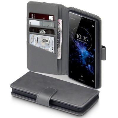Terrapin Δερμάτινη Θήκη - Πορτοφόλι Sony Xperia XZ2 - Grey