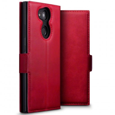 Terrapin Low Profile Δερμάτινη Θήκη - Πορτοφόλι Sony Xperia L2 - Red