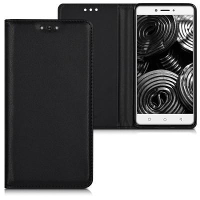 Θήκη-πορτοφόλι για Lenovo K6 Note μαύρη