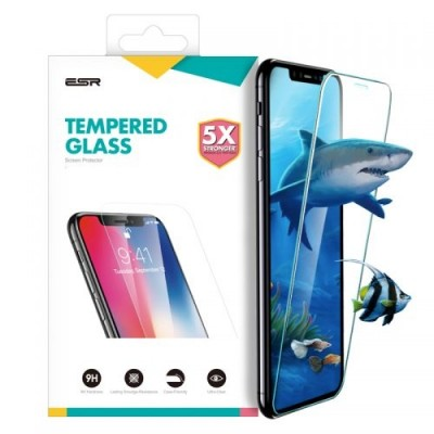 ESR Premium Quality Full Cover Tempered Glass iPhone XR (With Easy Installation Frame)