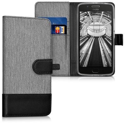 Θήκη-Πορτοφόλι για Motorola Moto G5 γκρι by KW