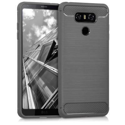 Θήκη Brushed Carbon ανθρακί για LG G6