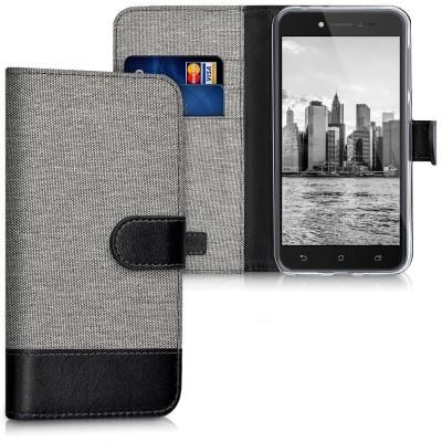 Θήκη Πορτοφόλι για Asus ZenFone Live (ZB501KL) γκρι