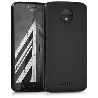 Θήκη σιλικόνης μαύρη ματ για Motorola Moto C by KW