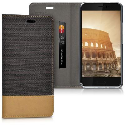 Θήκη- Πορτοφόλι για HTC U11 καφέ by KW