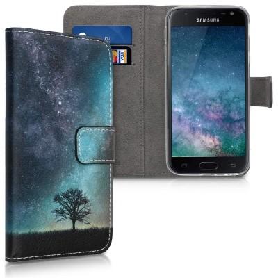 Θήκη Πορτοφόλι Samsung Galaxy J3(2017) Blue By KW