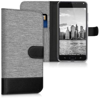 Θήκη Πορτοφόλι για Asus Zenfone 4 Max Pro γκρι