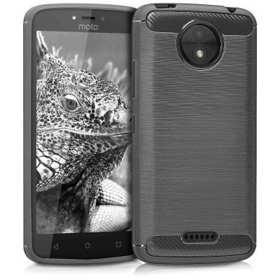 Θήκη Brushed Carbon ανθρακί για Motorola Moto C