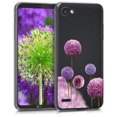 Θήκη σιλικόνης Flower για LG Q6