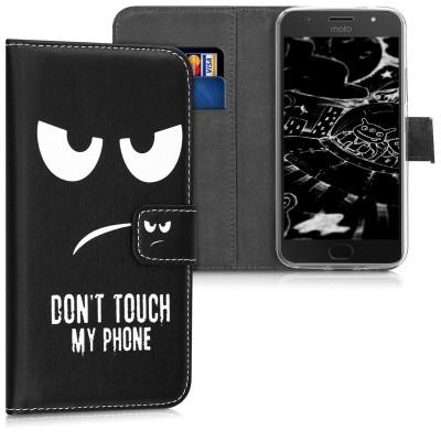 Θήκη-Πορτοφόλι για Motorola Moto G5S Don't Touch My Phone