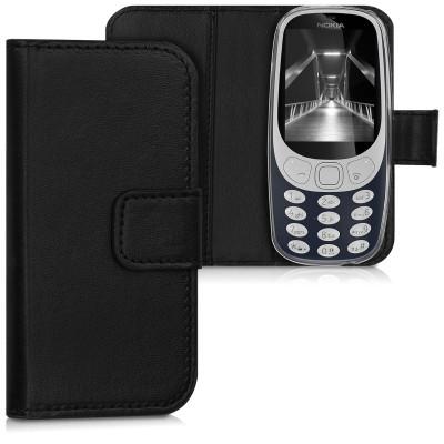 Θήκη-Πορτοφόλι για Nokia 3310 μαύρη by KW (200-104-477)