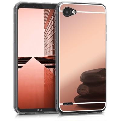 Θήκη καθρέφτης για LG Q6 by KW σε ροζ χρυσό