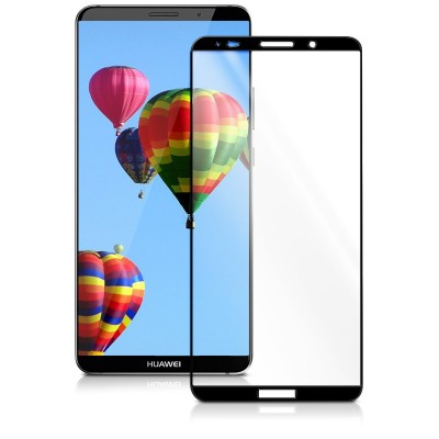 Full Cover Tempered Glass μαύρο για Huawei Mate 10 Pro