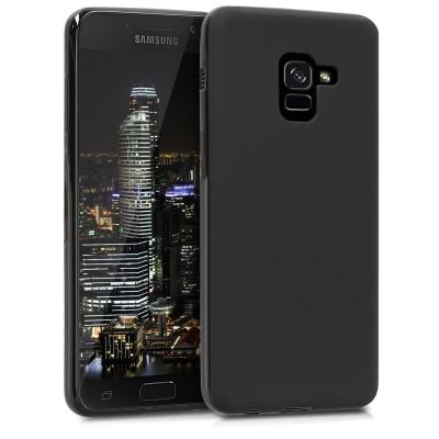 Θήκη σιλικόνης μαύρη για Samsung Galaxy A8(2018) by KW