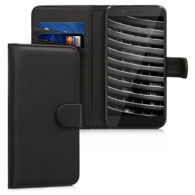 Θήκη-πορτοφόλι για Alcatel Idol 5 μαύρη by KW