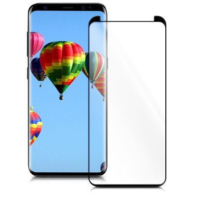Full Cover 3D Tempered Glass μαύρο για Samsung Galaxy S9