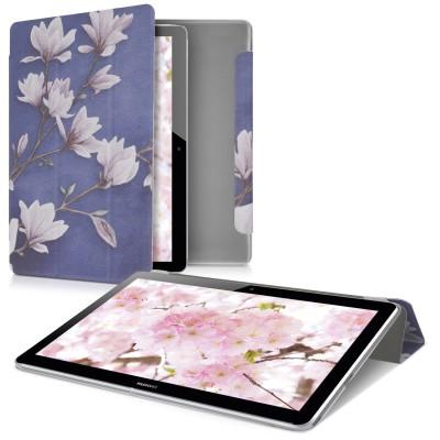 Θήκη-smart cover για Huawei MediaPad T3 10 Magnolias Taupe / White / Blue Grey by KW (200-105-643)