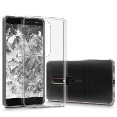 Θήκη σιλικόνης διάφανη για Nokia 6 (2018)