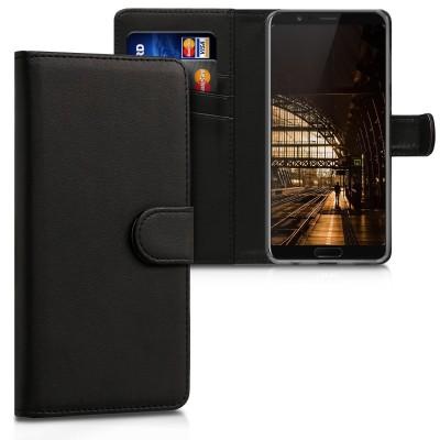 Θήκη-Πορτοφόλι για Huawei Honor View 10 μαύρη by KW