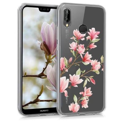 Θήκη σιλικόνης Magnolias για Huawei P20 Lite by KW