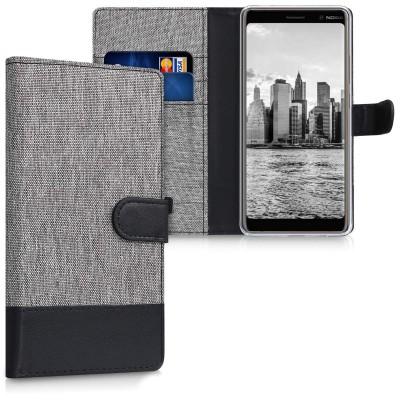 Θήκη-Πορτοφόλι για Nokia 7 Plus γκρι by KW