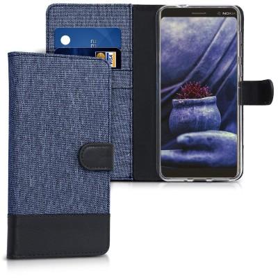 Θήκη-Πορτοφόλι για Nokia 7 Plus μπλε by KW