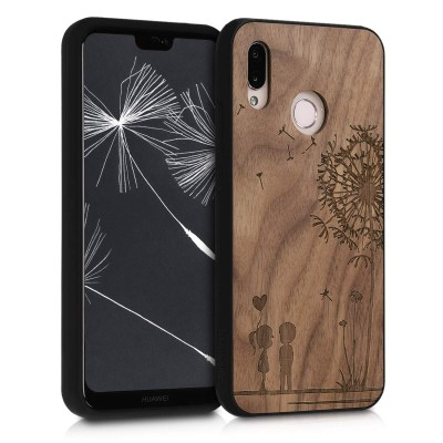 KW Ξύλινη θήκη Huawei P20 Lite - Brown - Dandelion Love - (200-104-392)