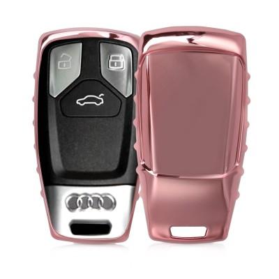KW Θήκη Κλειδιού Audi - Σιλικόνη - 3 Κουμπιά (only Keyless Go) - Rose Gold High Gloss (200-104-773)