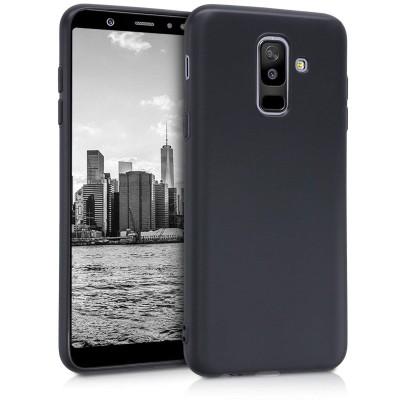 Θήκη σιλικόνης μαύρη matte για Samsung Galaxy A6 Plus (2018)