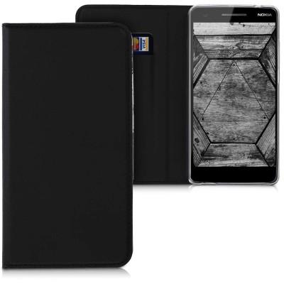 Θήκη-Πορτοφόλι για Nokia 2.1 μαύρο με stand
