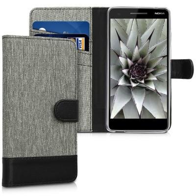 Θήκη-Πορτοφόλι για Nokia 2.1 γκρι