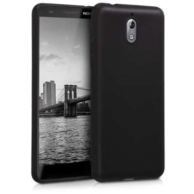 Θήκη σιλικόνης μαύρη matte για Nokia 3.1(2018)