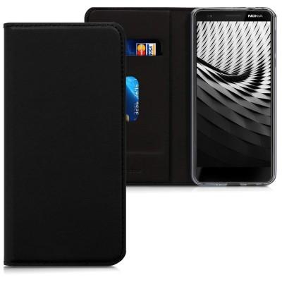 Θήκη-Πορτοφόλι για Nokia 3.1 μαύρο με stand by KW