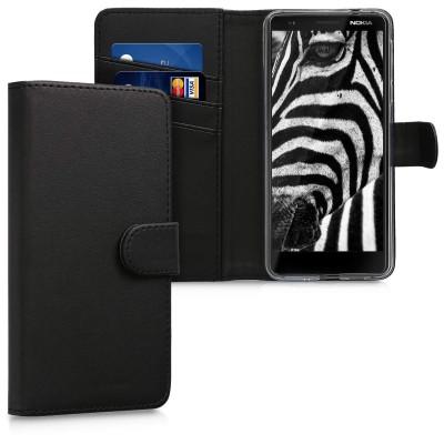 Θήκη-Πορτοφόλι για Nokia 3.1 μαύρο by KW