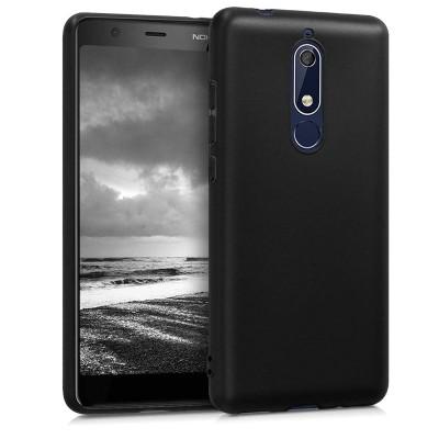Θήκη σιλικόνης μαύρη matte για Nokia 5.1(2018)
