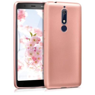 Θήκη σιλικόνης metallic rose gold για Nokia 5.1(2018)