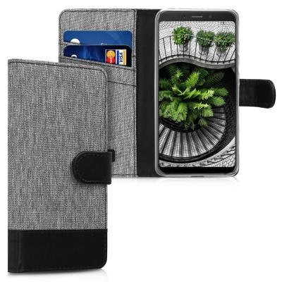 Θήκη Πορτοφόλι για Xiaomi Redmi 6A γκρι By KW