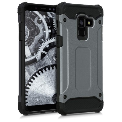 Ανθεκτική Θήκη Transformer για Samsung Galaxy A8( 2018) Γκρι - Ανθρακί