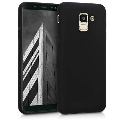 Θήκη σιλικόνης μαύρη για Samsung Galaxy J6