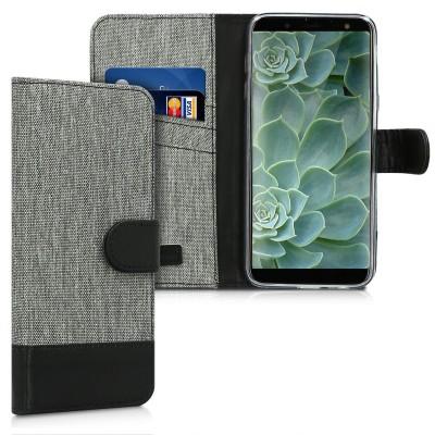 Θήκη Πορτοφόλι για Samsung Galaxy J6(2018) γκρι