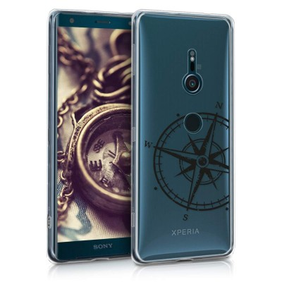 Θήκη σιλικόνης διάφανη Compass για Sony Xperia XZ3