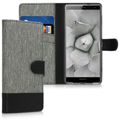 Θήκη Πορτοφόλι για Sony Xperia XZ3 γκρι By KW