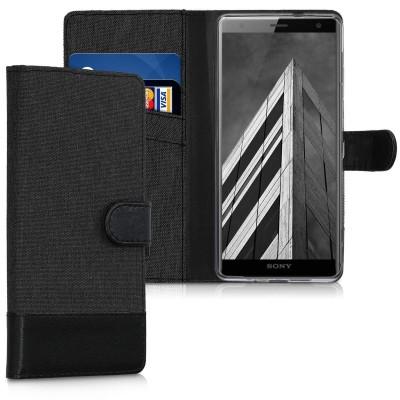 Θήκη-Πορτοφόλι για Sony Xperia XZ3 Μαύρο Ανθρακί