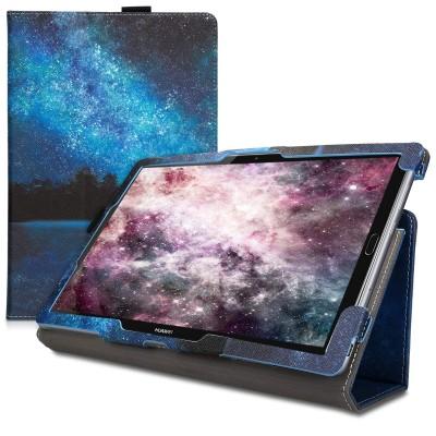Θήκη-smart cover με stand για Huawei MediaPad M5 10 / M5 10 (Pro) Cosmic Forest Blue by KW (200-105-451)