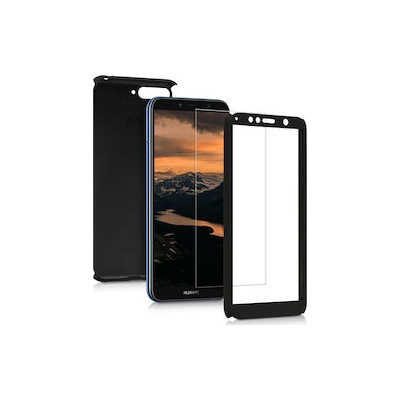 360 Full Cover Case & Tempered Glass For Huawei Y6 (2018) Black - (46-60955)