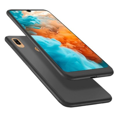 360 Full Cover Case & Tempered Glass For Huawei Y6 (2019) Black - (46-60959)