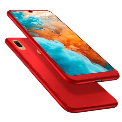 360 Full Cover Case & Tempered Glass For Huawei Y6 (2019) Red - (46-60960)