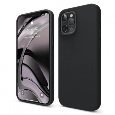 My Colors Original Liquid Silicon For iPhone 12 / 12 Pro Black (200-107-200)