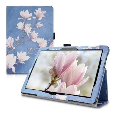 Θήκη-smart cover με stand για Huawei MediaPad T5 10 γαλάζια Magnolias by KW (200-104-930)