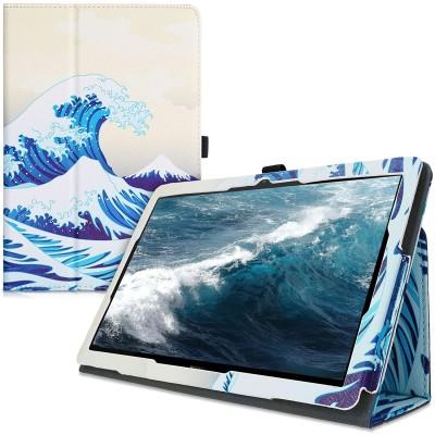 Θήκη-smart cover με stand για Huawei MediaPad T5 10 Japenese Wave Blue/White/Beige by KW (200-107-651)